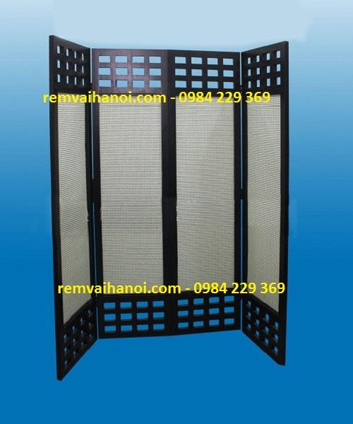 Bình phong gỗ - tơ - đay - cỏ - giấy