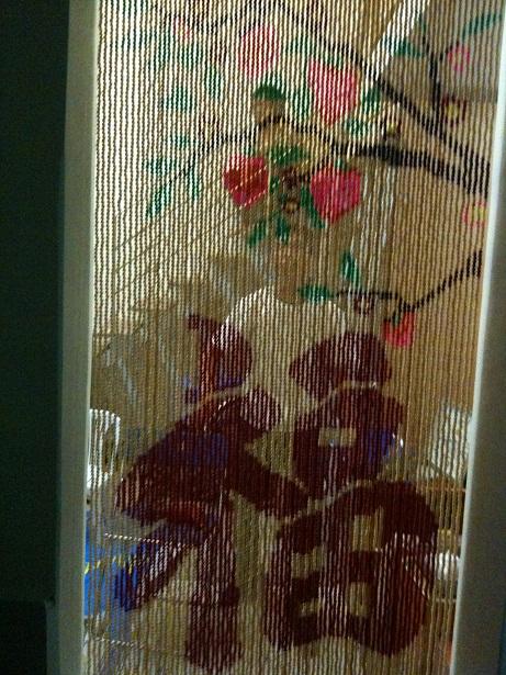 Rèm hạt nhựa kết tranh - HNKT-18