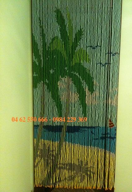 Rèm hạt nhựa kết tranh - HNKT-19