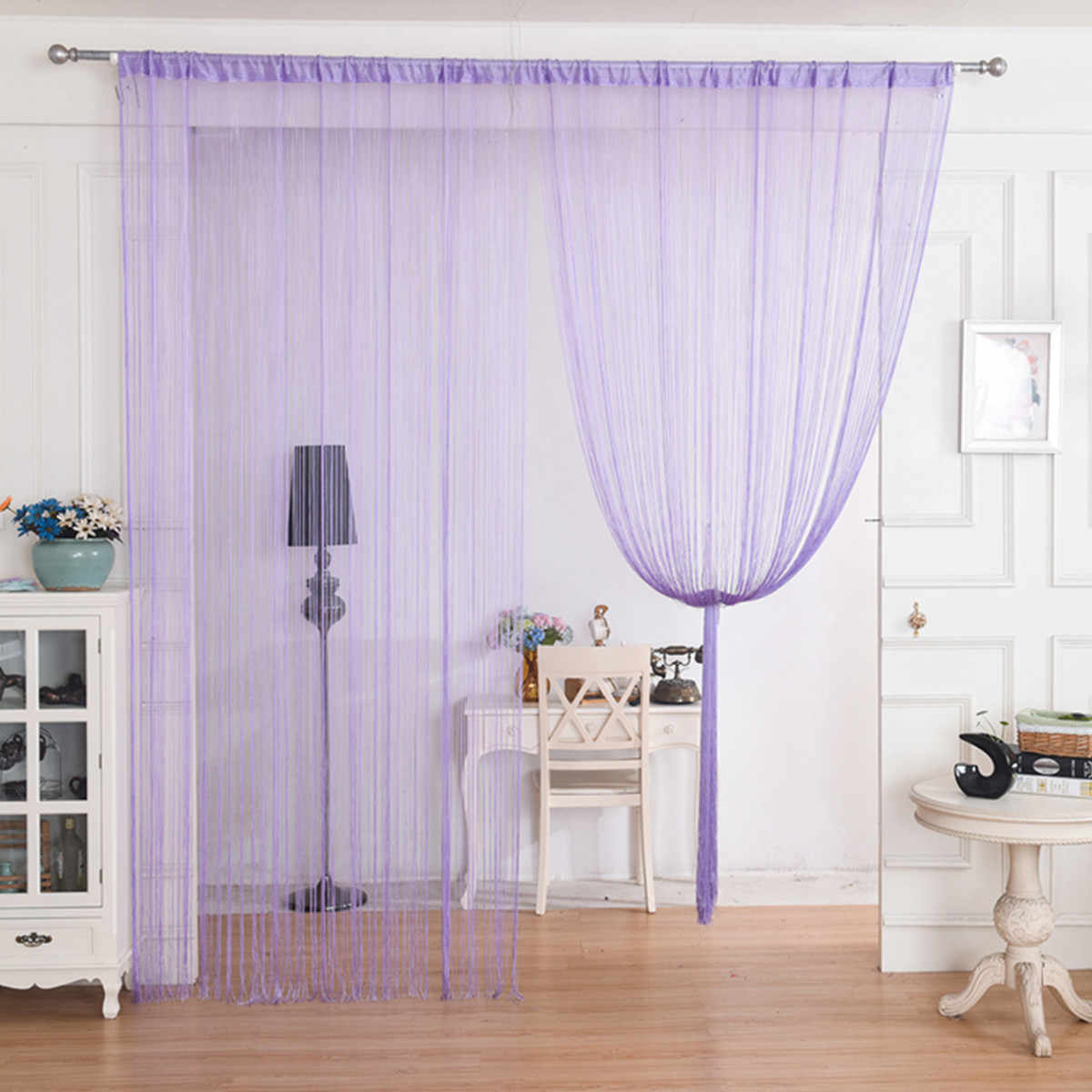 Rèm sợi màu tím