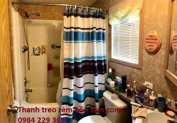 Thanh treo rèm bồn tắm cong